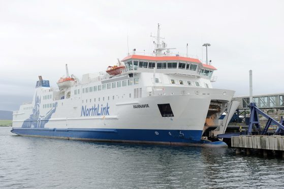 A NorthLink ferry.