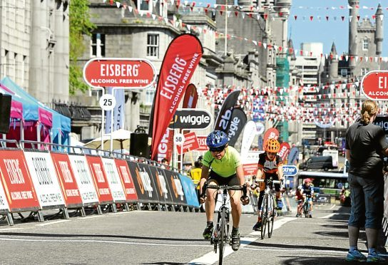 The Tour Series cycle event at Aberdeen