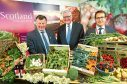 Allan Bowie, Fergus Ewing and James Withers from Food and Drink Scotland