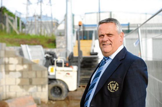 Pictured is Club President Brian Winton of Banks O'Dee FC