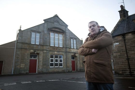 Buckie Community Theatre director Glen Campbell outside the Fisherman's Hall.