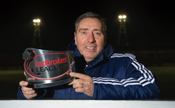 Jim McInally has won the League Two Manager of the Month award for January.