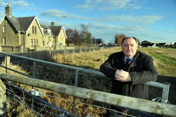 Elgin City South councillor John Divers at the former mart on the town's Linkwood Road.