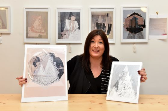 Former social worker Jemma Tastard is staging her first solo art exhibition at Foodstory café, Thistle Street, Aberdeen.   Picture by Kenny Elrick