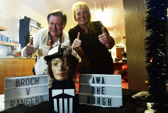 HAIRDRESSERS ALEX NOBLE AND SUSAN PECK FROM THE KATS WHISKERS IN FRASERBURGH