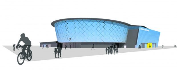 Artist impression of what the new Inverness Arena might look like.