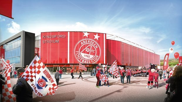 An artist's impression of Kingsford Stadium