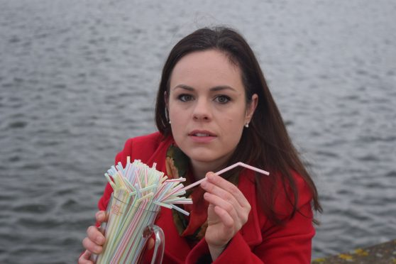MSP Kate Forbes is leading a campaign against plastic straws