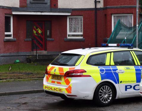 Police at the scene in Tillydrone