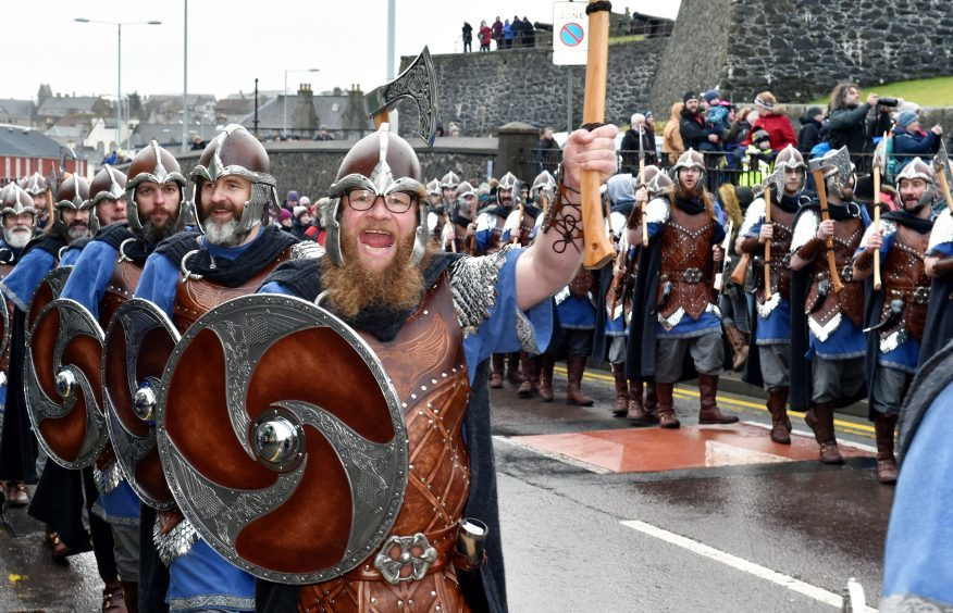Up Helly Aa draws in the tourists. Picture by Colin Rennie.