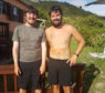 Kris (right) and Blair Elliot who rowed across the Atlantic.