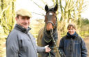 THE BUSINESS ;  Jackie Stephen and her husband Patrick of Jackie Stephen Racing, Conglass Farmhouse, Inverurie, the UK's most northernly horse-racing training business.    Picture by Kami Thomson    31-01-18