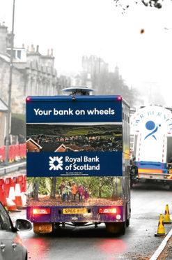 The Royal Bank Of Scotland mobile banking service.