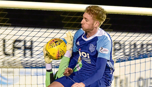 Russell McLean scored for Peterhead