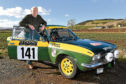 John Roberts with his two door Fiat 124 Coupe.