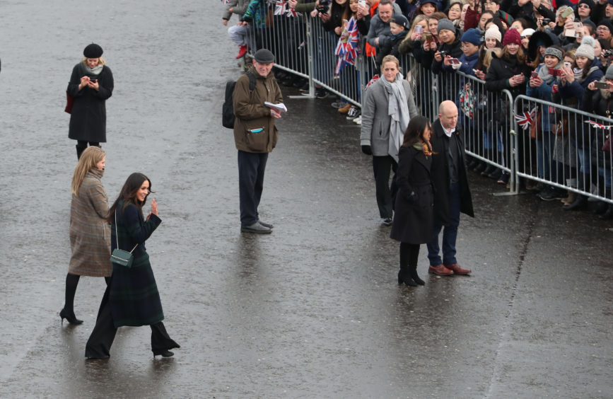 Meghan Markle meets wellwishers on the esplanade during her visit to Edinburgh Castle