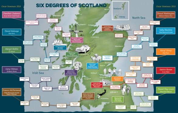 Six Degrees of Separation map