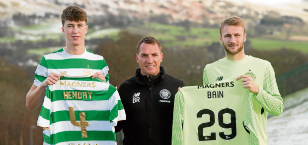 Celtic new signings Hendry and Bain.