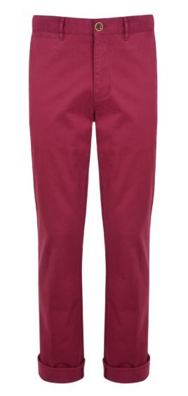 Roses are red and so are these chinos! Get in the mood with these Racing Green red chinos, £30 from Debenhams