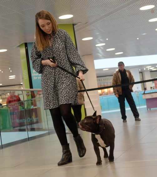 Legally Blonde dog auditions at the Bon Accord Centre. Pictured is Bethany Hogg with Jarvis. 15/02/18. Picture by KATH FLANNERY