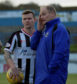 Elgin City boss Gavin Price, (right)