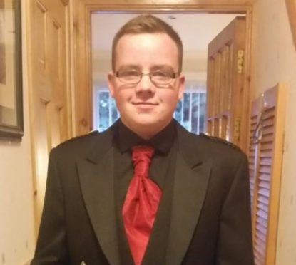 Kyle Robertson, 22, died  in a  road collision over the weekend.