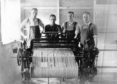 Orkney Tweed weavers. Picture courtesy of Orkney Library and Archive.