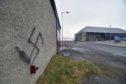 The graffiti near the Museum of Scottish Lighthouses.