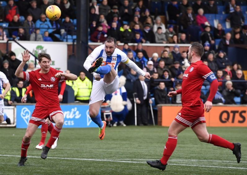 Kilmarnock's Kris Boyd misses a good chance
