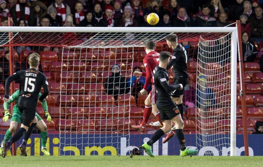 Aberdeen's Kenny McLean scores to make it 3-1