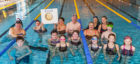Nearly 40 swimmers took part in the fundraiser.