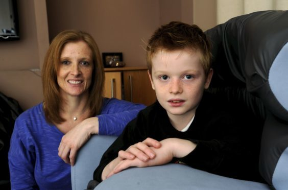 Tracy Milne with her son, Alfie.