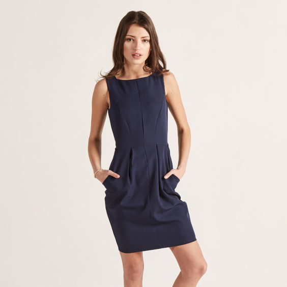 Heading straight from the office to the restaurant? This navy square neck tulip dress from Apricot, £34, makes a versatile day and night outfit