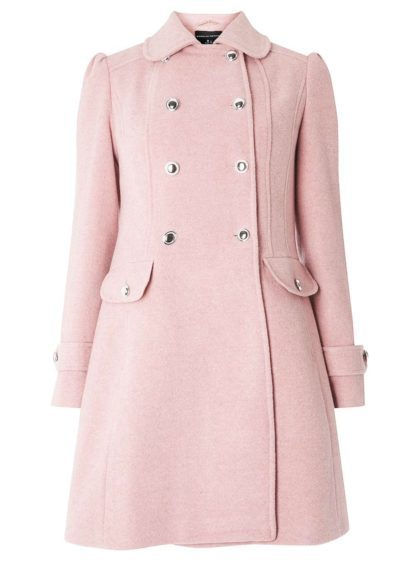 Don't let the cold stop you from having a good time. See if pink will make the boys wink with this pink pea coat, £69 from Dorothy Perkins