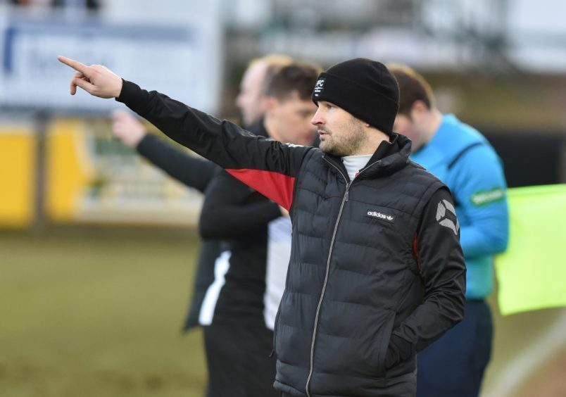 Fraserburgh manager Mark Cowie.
