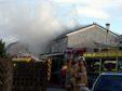 Firefighters attend a house fire on Watchman Brae, Bucksburn, Aberdeen (Picture: Jim Irvine)