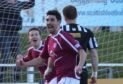Keith Gibson in action for Arbroath against Elgin during his playing career.
