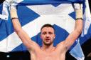 03/03/18 WBC SILVER SUPER LIGHTWEIGHT TITLE  JOSH TAYLOR (SCO) v WINSTON CAMPOS (NI)  SSE HYDRO - GLASGOW  Scotland's Josh Taylor celebrates his win over Nicaragua's Winston Campos