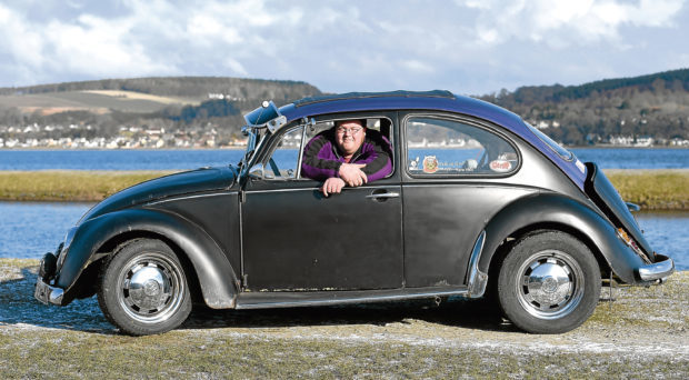 Mark Rudkin of Inverness who has a 1969 classic Beetle.