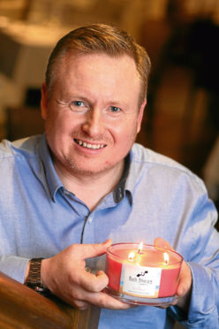 Entrepreneurial Spark virtual entrepreneurship course at the Kingsmills Hotel, Inverness. This pic: Jamie McGowan of Buth Bheag candle company