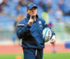 Gregor Townsend, head coach of Scotland gives his team instructions during the warm up prior to the NatWest Six Nations match between Italy and Scotland at Stadio Olimpico on March 17, 2018 in Rome, Italy.