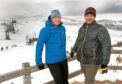 Claire Humber and Pete Williams from SE Group visit Cairngorm Mountain Resort. Credit: Trevor Martin