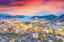 Nagasaki, Japan skyline at dusk