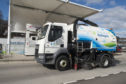 The Hydrogen powered road sweeper.