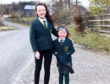 Sophie and  Lucy MacGregor at Ardconnel farm.