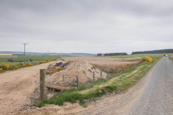 The proposed site at Muirtack near Ellon.
