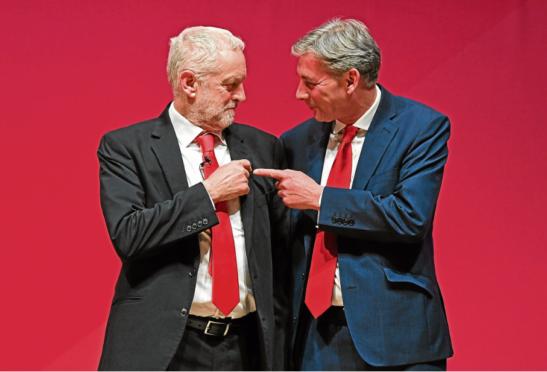 Labour leader Jeremy Corbyn (left) and Scottish Labour leader Richard Leonard