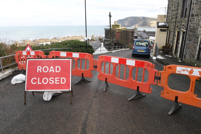 Harbour Road is closed off to the public.