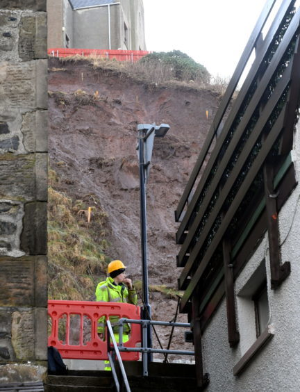 Picture from the recent Gardenstown land slip.
