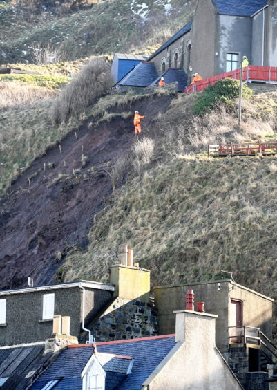 Picture from the recent Gardenstown land slip